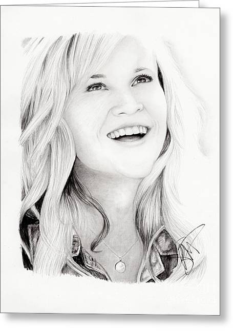 Reese Witherspoon Greeting Card by Rosalinda Markle