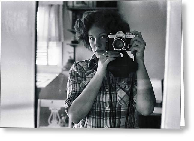 Self-portrait Photographs Greeting Cards - Reflecting Back Greeting Card by Rory Sagner