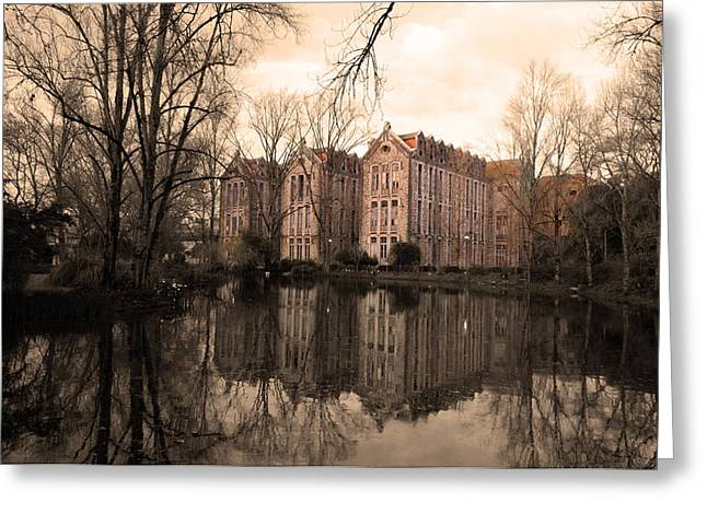 Reflecting Water Greeting Cards - Reflecting Memories Greeting Card by Dias Dos Reis