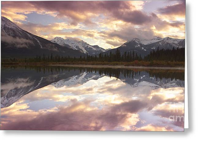 Landforms Greeting Cards - Reflecting Mountains Greeting Card by Keith Kapple