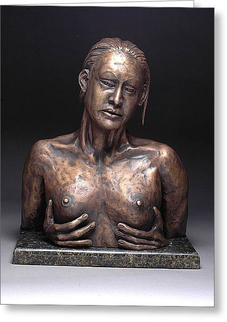 Female Nude Sculptures Greeting Cards - Reflection Greeting Card by Eduardo Gomez
