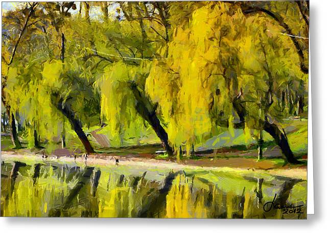 Vincent Dinovici Greeting Cards - Reflection in the water TNM Greeting Card by Vincent DiNovici