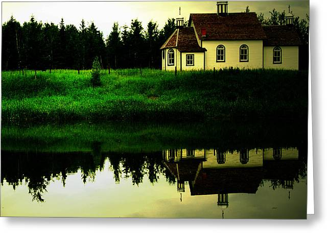 Canadian Photographers Greeting Cards - Reflection Of Faith  Greeting Card by Jerry Cordeiro