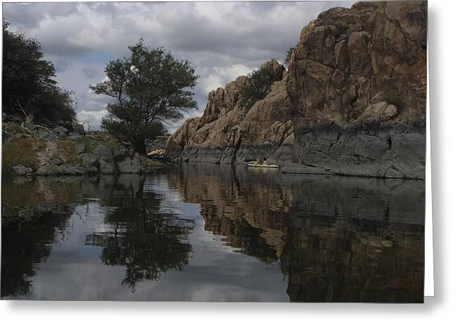 Granite Dells Reflections Greeting Cards - Reflection of the Dells Greeting Card by Ramie Liddle
