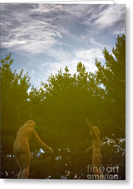 Eternal Life Greeting Cards - Reflection of the Fountain of Faith 1 Greeting Card by Susan Isakson