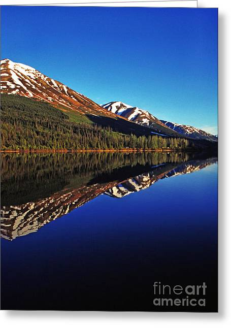 Pm Greeting Cards - Reflection Summit Lake Greeting Card by Thomas R Fletcher