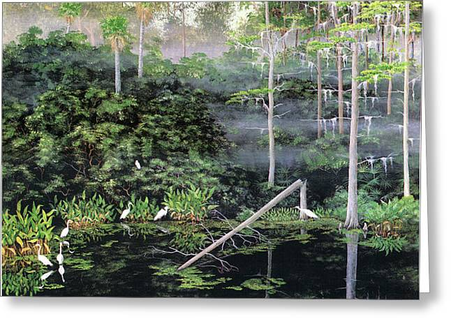 Reflections 1 Greeting Card by KEVIN BRANT
