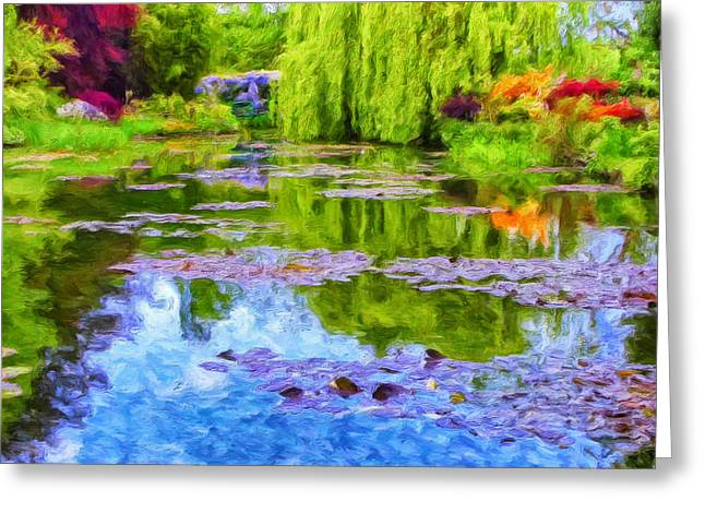 Reflections At Giverny Greeting Card by Dominic Piperata