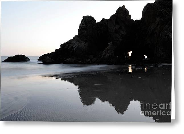 Reflections Big Sur Greeting Card by Bob Christopher