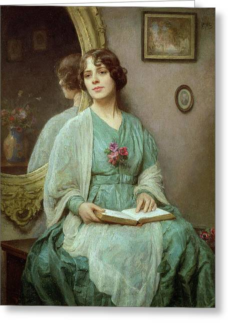 Pensive Greeting Cards - Reflections Greeting Card by Ethel Porter Bailey