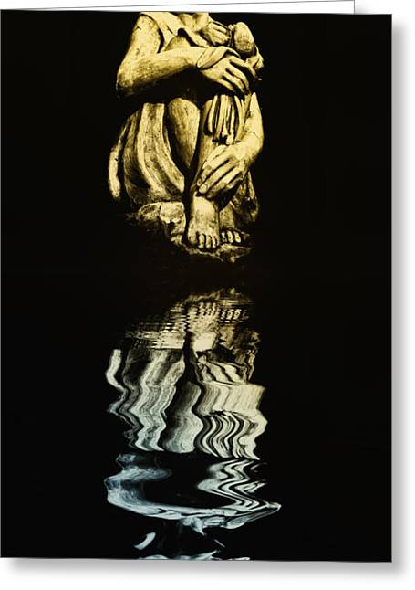 Daydreamer Greeting Cards - Reflections in the Moonlight Greeting Card by Bill Cannon