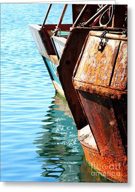 Reflections Of A Rust Bucket Greeting Card by Carol Groenen