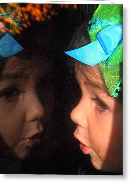 Light Show Greeting Cards - Reflections of Isabella Greeting Card by Karen Wiles