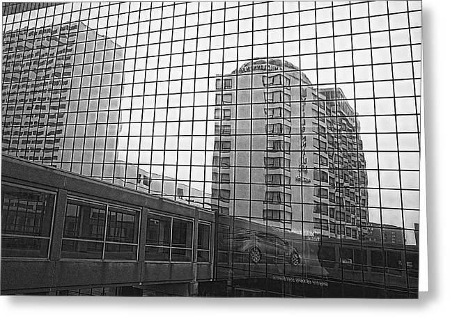 Reflecting Buildings Greeting Cards - Reflections of Minneapolis Greeting Card by Susan Stone