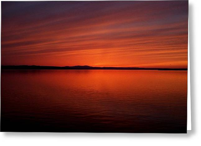 Jeff Moose Greeting Cards - Reflections of Orange and Blue Greeting Card by Jeff Moose