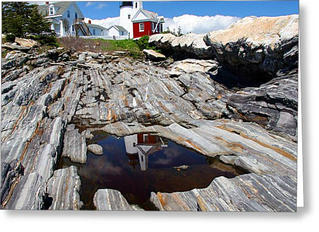 Reflections of Pemaquid Greeting Card by Brenda Giasson