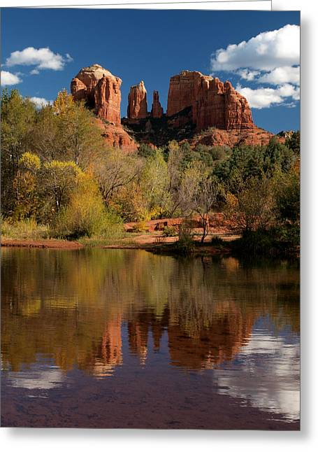 Recently Sold -  - Oak Creek Greeting Cards - Reflections of Sedona Greeting Card by Joshua House