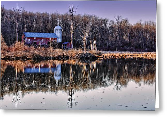 Sussex Greeting Cards - Reflections of the Old Barn Greeting Card by Rick Berk