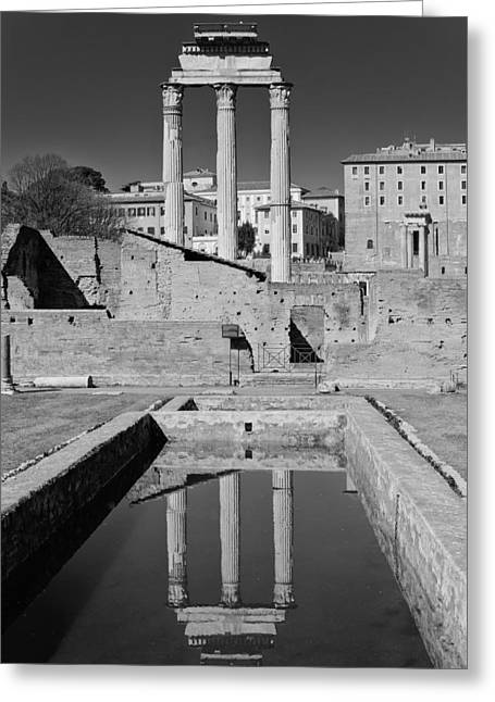 Vestal Greeting Cards - Reflections of the Past Greeting Card by Michael Avory