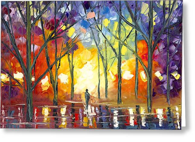 Jessilyn Park Greeting Cards - Reflections of the Soul Greeting Card by Jessilyn Park