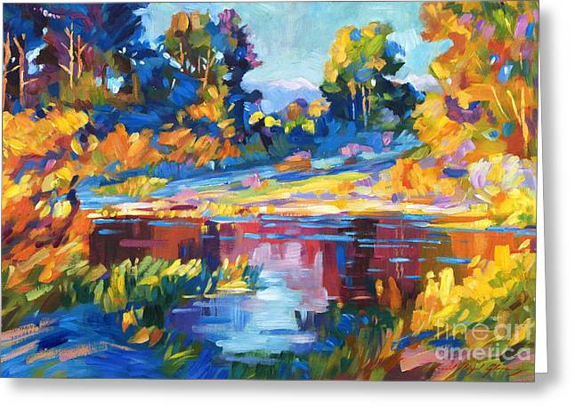 Lakeshore Greeting Cards - Reflections on a Quiet Lake Greeting Card by David Lloyd Glover