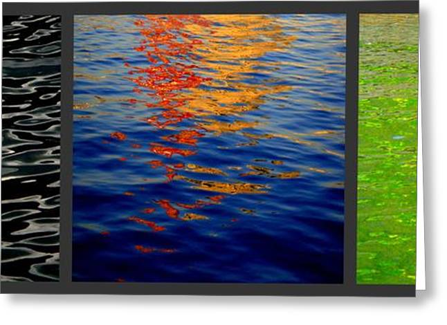 Blue Green Water Greeting Cards - Reflections Greeting Card by Roberto Alamino