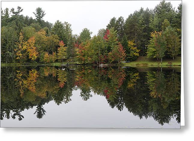 """adirondack Park"" Greeting Cards - Reflective Turtle Pond - Adirondack Park New York Greeting Card by Brendan Reals"