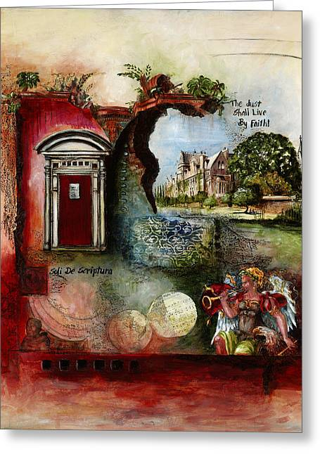 Reformer Mixed Media Greeting Cards - Reformation Greeting Card by Christie Michael