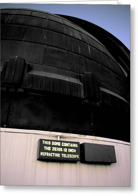 Best Sellers -  - California Tourist Spots Greeting Cards - Refracting Telescope Dome Greeting Card by Jera Sky