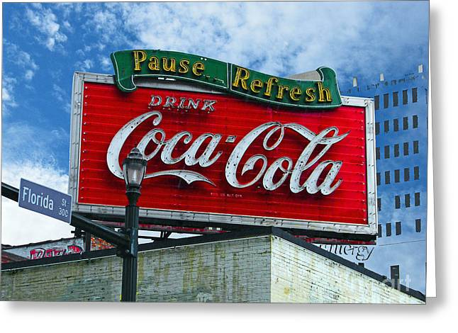 Pause Greeting Cards - Refresh on Florida Baton Rouge Greeting Card by Lizi Beard-Ward