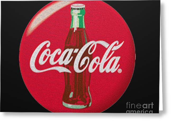 Coca-cola Sign Greeting Cards - Refreshing Greeting Card by Cheryl Young