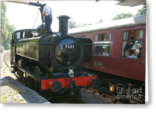 Pannier Greeting Cards - Refreshment at Parkend Greeting Card by David Birchall