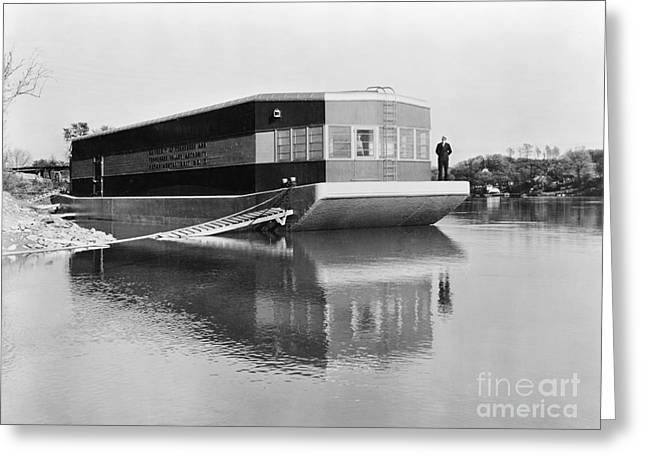 Tennessee River Greeting Cards - REFRIGERATED BARGE, c1935 Greeting Card by Granger