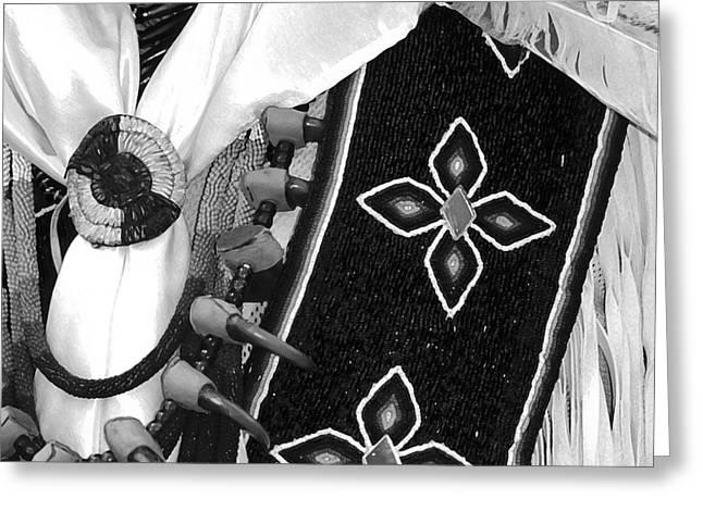 Powwow Greeting Cards - Regalia Greeting Card by Gordon Wood