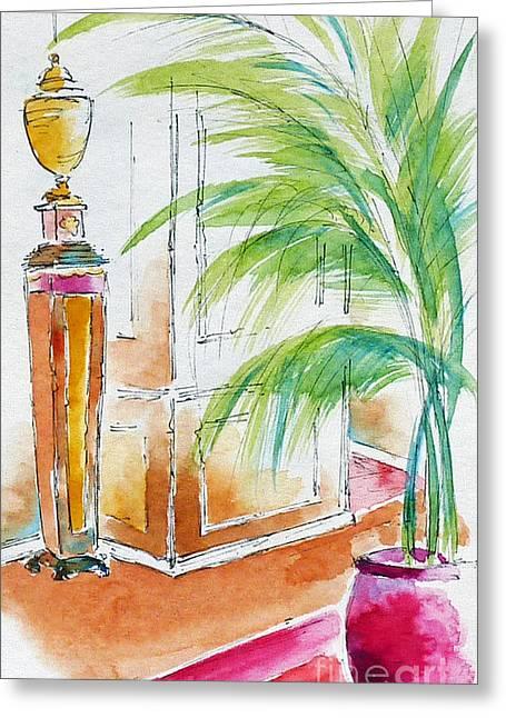 Reception Paintings Greeting Cards - Regatta Reception Greeting Card by Pat Katz