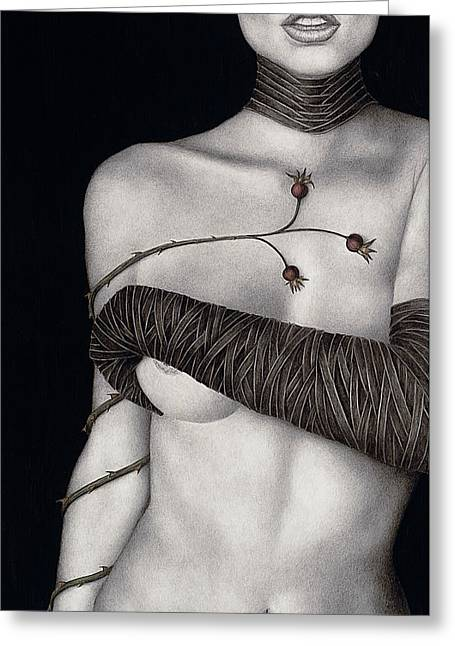 Edgy Greeting Cards - Regrets Greeting Card by Pat Erickson