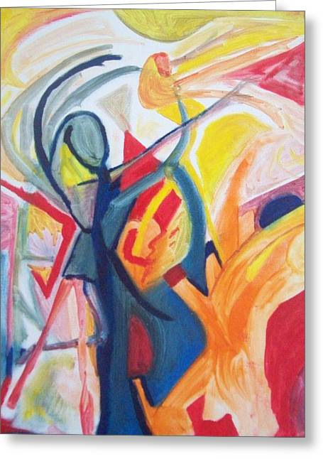 Dancer Rehearsal Greeting Cards - Performance Greeting Card by James  Christiansen