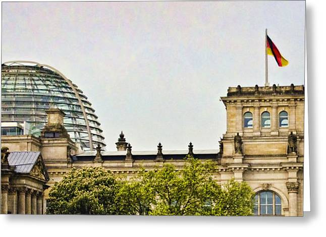 Berlin Germany Greeting Cards - Reichstag Dome Greeting Card by Jon Berghoff