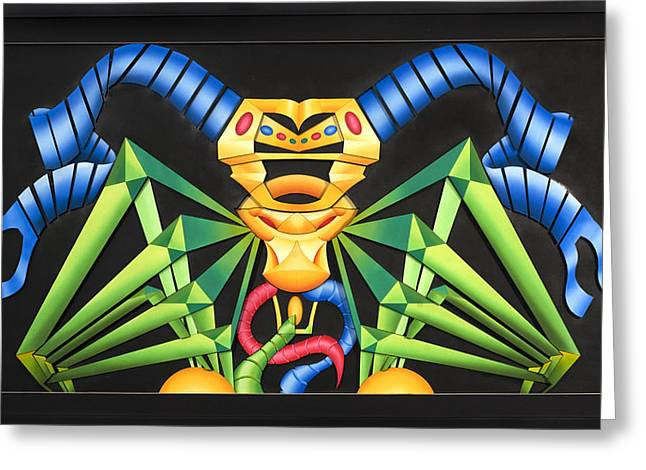 Colorful Reliefs Greeting Cards - Rein Greeting Card by Jason Amatangelo