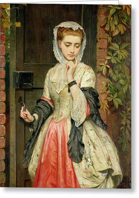 Love Laces Greeting Cards - Rejected Addresses Greeting Card by Charles Sillem Lidderdale