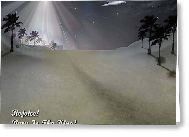 Star Of Bethlehem Greeting Cards - Rejoice Greeting Card by Brian Wallace
