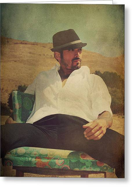 Outdoor Portrait Greeting Cards - Relax And Stay A While Greeting Card by Laurie Search