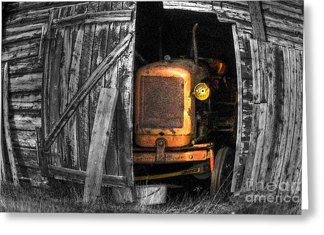 Sheds Digital Art Greeting Cards - Relic From Past Times Greeting Card by Heiko Koehrer-Wagner