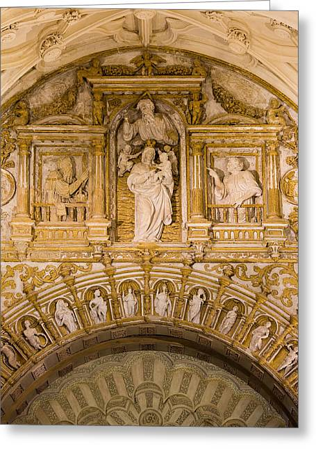 Mezquita Greeting Cards - Religious Carvings in Mezquita Cathedral Greeting Card by Artur Bogacki
