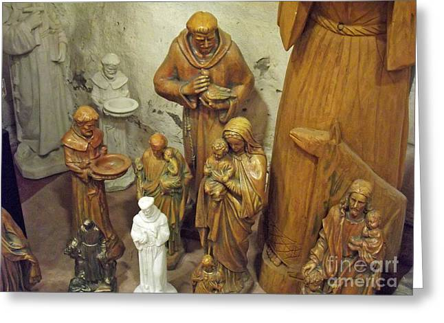 Religious Icon Greeting Cards - Religious Statuary Greeting Card by Methune Hively