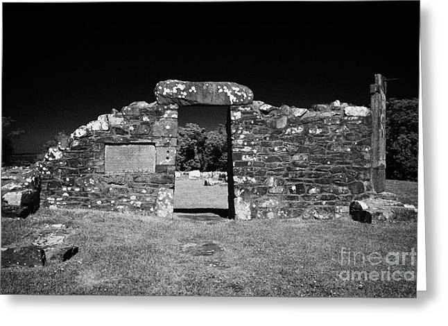 Remains Of The 6th Century Church On The Monastic Site At Nendrum On Mahee Island County Down Greeting Card by Joe Fox