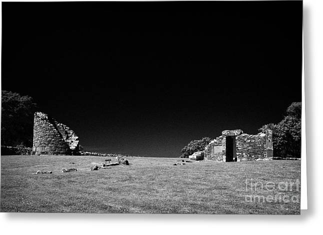 Remains Of The 6th Century Monastic Site At Nendrum On Mahee Island County Down Northern Ireland Greeting Card by Joe Fox