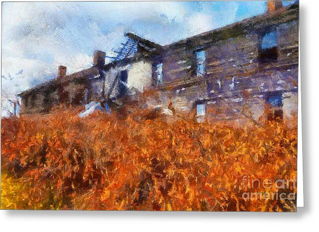 Dilapidated Houses Greeting Cards - Remember When Greeting Card by Lois Bryan