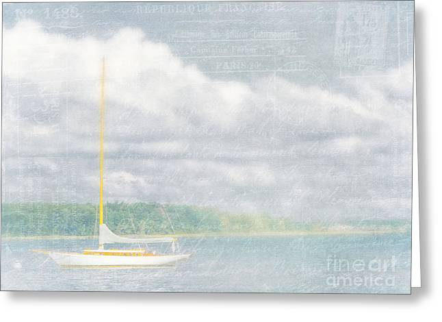 Ethereal Beach Scene Greeting Cards - Remembering Ethereal Days Greeting Card by Cheryl Butler