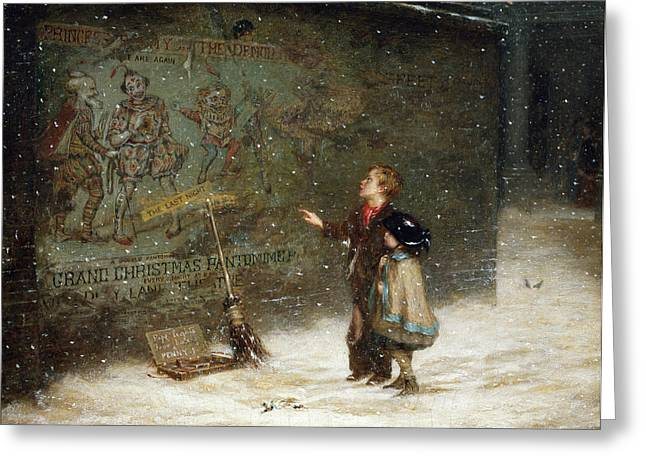 Street Sweeper Greeting Cards - Remembering Joys that have Passed Away Greeting Card by Augustus Edward Mulready